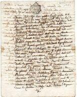 Cachet De GENERALITE D' AUCH, 2 SOLS 4 D., Sur Testament, Couvent De BERDOUES, Fait Par Notaire Royal De Mirande En1784. - Gebührenstempel, Impoststempel