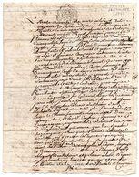 Cachet De GENERALITE D' AUCH, 2 SOLS, Sur Accord Manuscrit, à SAINTE FAUSTE (Lectoure - Gers) En 1756. - Gebührenstempel, Impoststempel