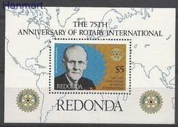 Redonda 1980 Mi Bl 7 MNH ( ZS2 RDNbl7 ) - Rotary, Club Leones