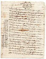 Cachet De GENERALITE D' AUCH, Sur Document Manuscrit, Notaire Royal, SAINTE FAUSTE (Cazaubon - Gers) En 1745. - Gebührenstempel, Impoststempel