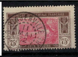 COTE D'IVOIRE           N°  YVERT  :  54  ( 20 )      OBLITERE       ( Ob   7/ 57 ) - Côte-d'Ivoire (1892-1944)