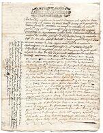 Cachet De GENERALITE MONTAUBAN, PETIT PAPIER, UN SOL 4 D, Notaire Royal, SAINTE FAUSTE / CUTXAN (Cazaubon - Gers) 1711. - Gebührenstempel, Impoststempel