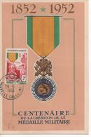 Carte  CENTENAIRE De La Création De La MEDAILLE MILITAIRE - Bolli Commemorativi