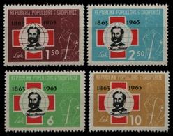 Albanien 1963 - Mi-Nr. 717-720 ** - MNH - Rotes Kreuz / Red Cross - Albanien