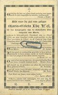 Maria De Vel :  Schoonbroek - Turnhout 1836 -  Geel 1890 In De Pastorij Van Sinte Dimphna    ( See Scans ) - Imágenes Religiosas