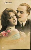 029 853 - CPA - Thème - Couple - Romance - Romantique - Groupés - Couples