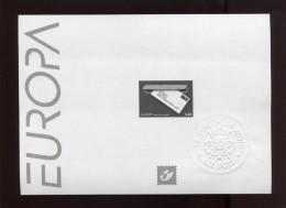 Belgie 2008 3780 EUROPA CEPT Letter Zwart-wit Velletje Feuille Blanc Noir  RR - Feuillets Noir & Blanc