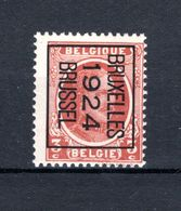 PRE098B MNH** 1924 - BRUXELLES 1924 BRUSSEL - Typografisch 1922-31 (Houyoux)