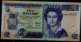 BELIZE  2014 BANKNOTS 2 DOLLARS UNC !! - Belize