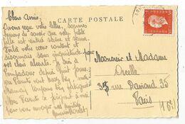 DULAC 50C SEUL CARTE ?? POMPADOUR 1945 POUR PARIS - 1944-45 Marianne Of Dulac