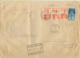MARINARE £.2+£.4X3 (s567+s569)-£.14,TARIFFA MANOSCRITTI 1°PORTO RACCOMANDATA APERTA,TIMBRO POSTE ROMA,RR - 1946-60: Marcophilia