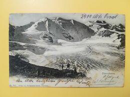 CARTOLINA POSTCARDS SVIZZERA HELVETIA 1904 MONTE MOUNTAIN DIAVOLEZZA BOLLO CROSS SHIELD OBLITERE' ST. MORITZ SUISSE - GR Grisons
