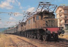CPA - Alessandria - Locomotiva Electtrica Trifase F.S.E. 432.033 E E. 431.027 Con Treno Locale Alessadria-S. Giuseppe - Alessandria