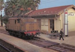 CPA - Ceriale - Locomotiva Electrica Trifase F.S.E 554.059 In Transito Isolata In Stazione Di Ceriale ( SV ) - Otras Ciudades