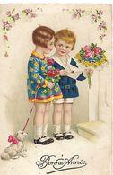 ENFANTS - LITTLE GIRL - MAEDCHEN - Jolie Carte Fantaisie  Fillette - Children's Drawings