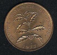 Ruanda, 5 Francs 1977, KM 13, UNC - Rwanda