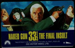 JAPAN 1990 PHONECARD CINEMA NAKED GUN 33/1/2 THE FINAL INSULT USED VF!! - Film