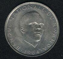 Ruanda, 10 Francs 1964, UNC - Rwanda