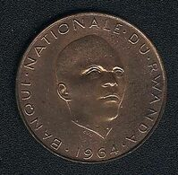 Ruanda, 5 Francs 1964, UNC - Rwanda