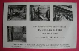 83 Les Arcs Sériciculture Ets Goiran Culture Vers à Soie Silk TB Animée éditeur L' établissement Dos Scanné - Les Arcs