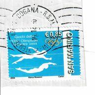 SAN MARINO 2008 - OLIMPIADI DI PECHINO - 1 VALORE USATO SU FRAMMENTO - San Marino