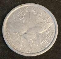 NOUVELLE CALEDONIE - 1 FRANC 1971 - Sans IEOM - KM 8 - Oiseau Cagou - New Caledonia