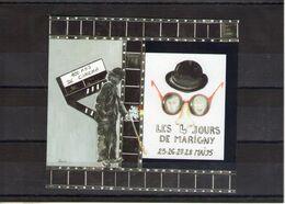 Blocs Carré Marigny. Centenaire Du Cinéma 1955 - Blocs & Feuillets