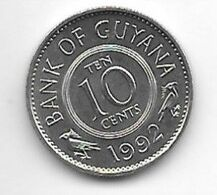 *guyana 10 Cents 1992 Km 33   Bu/ms65 - Guyana