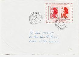 France, Vignette Porte Timbre  En 1986  D'Ablon Sur Seine  , Sur Liberté De Gandon   TB - Marcophilie (Lettres)