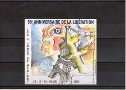 Blocs Carré Marigny. 50e Anniversaire De La Libération 1994 - Blocs & Feuillets