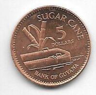 *guyana 5 Dollars  1996  Km 51  Unc/ms63 - Guyana