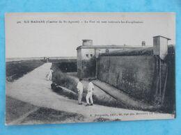 17 : PORT Des BARQUES , ILE MADAME , LE FORT Où Sont ENFERMES Les DISCIPLINAIRES , Animée,C.P.A.,en Bon état - Francia