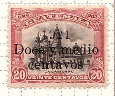 PIA - GUATEMALA - 1921 - Francobollo Precedente Sovrastampato  - (Yv 170) - Guatemala