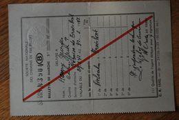 3180/ S.N.C.B -Bulletin De Marche- Parcours Vielsalm  - Remise De Trois-Ponts -1941 - Houry Georges Chauffeur - Chemins De Fer
