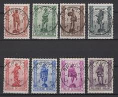 Belgique: 1942. COB : 615/22 (défaut D'oblitération). Oblitéré(s). - Belgique