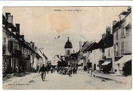 Haute Saône PESMES La Place Et L'église (animation) - Pesmes