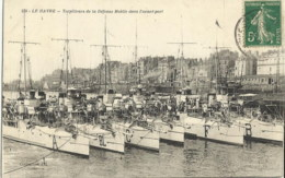 76 LE HAVRE TORPILLEURS DE LA DEFENSE MOBILE DANS L'AVANT PORT - Guerra