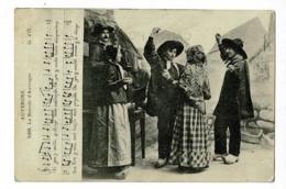 Auvergne - 1008 - La Bourrée D'Auvergne - Danseurs Accompagnés à L'accordéon ( Partition & Paroles) Circ Sans Date - Tänze