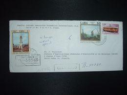 LR Pour La FRANCE TP TRAIN WAGON 1 00 + VERNET 50 + TRINIDAD 5 OBL.19-12 89 - Cartas