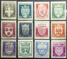 FRANCE 1942 Y&T N°553 A 564 - ARMOIRIES DES VILLES - NEUFS * MH. TB... - Ongebruikt