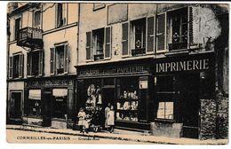 Val D'Oise CORMEILLES EN PARISIS Grande Rue (Papeterie, Librairie; Animation) - Cormeilles En Parisis