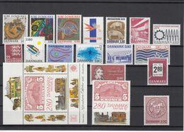 Denmark 1987 - Full Year MNH ** Including Exhibition Block - Denemarken