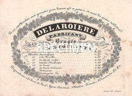 Porceleinkaart Delaroiere Fabricant De Chocolats Rue St Amand - Brugge - 8 X10.5 Cm - Brugge