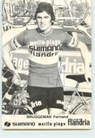 Fernand BRUGGEMAN , Autographe Manuscrit, Dédicace . 2 Scans. Cyclisme. Shimano Merlin Plage Flandria 1974 - Radsport