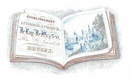 Porceleinkaart Etab. Lithographique De Dag De Muyttere Rue St Amand -  Brugge - 6 X 10.5 Cm - Brugge