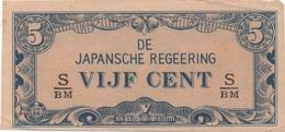 Indonésie Japonaise : 5 Cent ND (Guerre Mondiale II) TBE - Japon