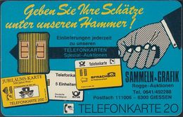 GERMANY K407c/91 Rogge Auktionen - Telefonkarten - Münzen - Germany