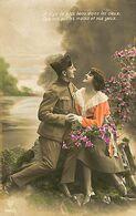 029 901 - CPA - Thème - Couple - Romantique - Romance - Amour - Militaire - Couples