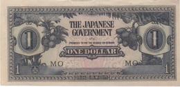 Occupation Japonaise : 1 Dollar ND (Guerre Mondiale II) : Recto TBE / Verso Mauvais état - Japon