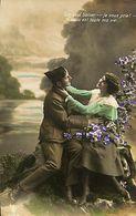 029 902 - CPA - Thème - Couple - Romantique - Romance - Amour - Militaire - Couples